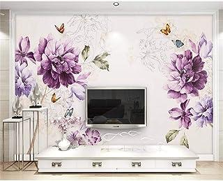 200X140 cm 78.7 por 55.1 pulg. ZAMLE Papel tapiz 3D Papel tapiz fotográfico personalizado Papel tapiz no tejido Paisaje Madera Tv Fondo Pared Sala de estar Ropa de cama Murales en 3D