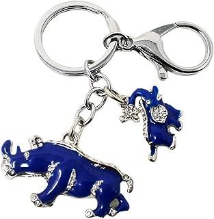 feng shui blue elephant and rhinoceros