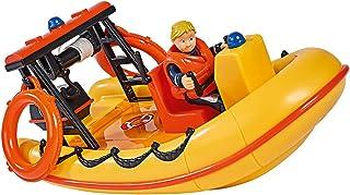 Simba 109251047 - Brandweerman Sam Neptune boot, met Penny figuur in duikoutfit, met geheim vak en mechanische lier drijft...