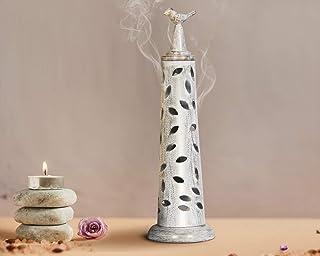 storeindya 感謝祭 デコレーション 金属製 鳥 お香 タワー&灰キャッチャー クリスマス ホームデコレーション アクセサリー 新築祝い ギフト