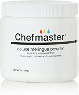 Chefmaster Deluxe Meringue Powder for Baking & Decorating, Kosher Meringue Powder for Buttercream, Royal Icing, Meringue Toppings, Meringue Cookies, and more! 10 oz. Ready to Use Meringue Mix
