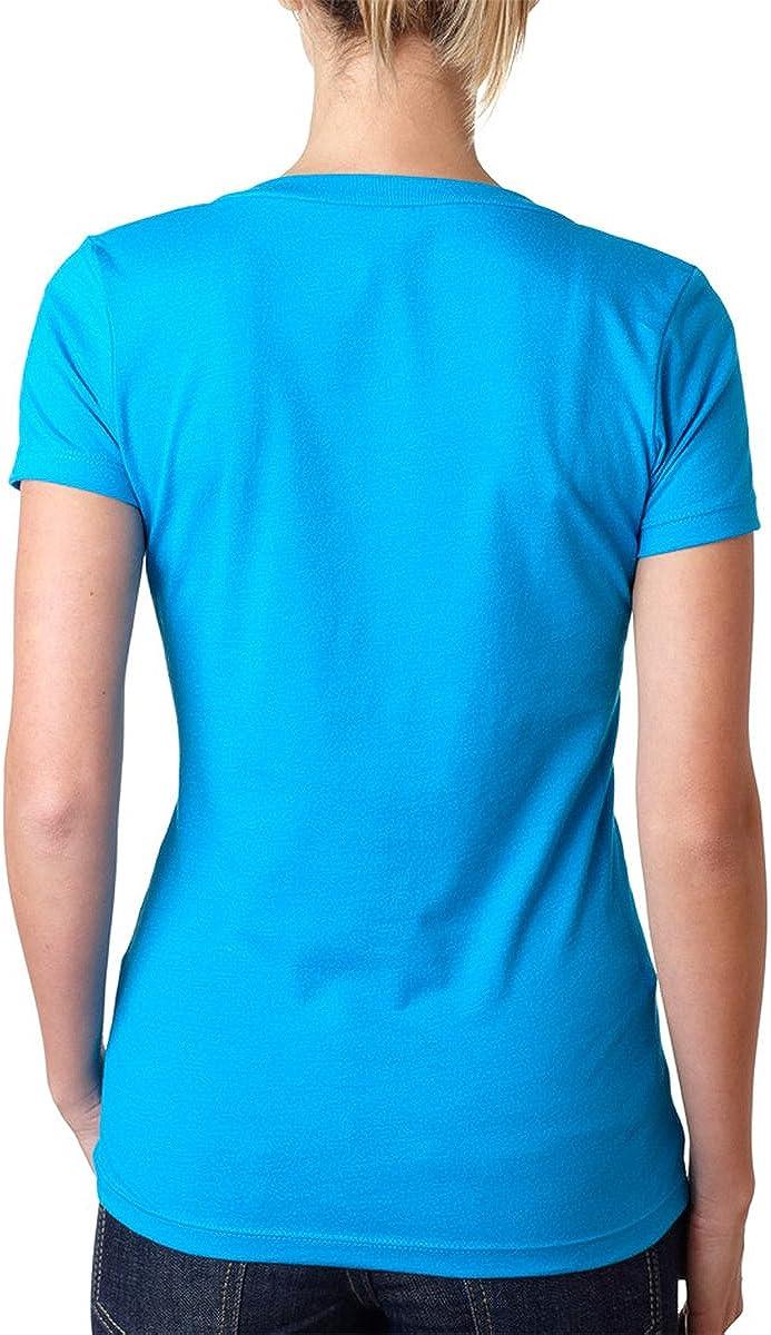 Next Level Women's Rib Knit Short Sleeve Deep V-Neck T-Shirt, Red, Large