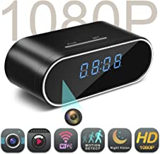 $59 Get Spy Camera,MCSTREE Hidden Camera in Clock WiFi Hidden Cameras 1080P Video Recorder Wireless IP Camera for Indoor Home Security Monitoring Nanny Cam 140 Angle Night Vision Motion Detection