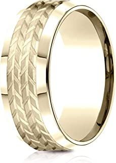 14K Gold, 18K Gold or Platinum Wedding Band, Men's or Women's, 8MM Width