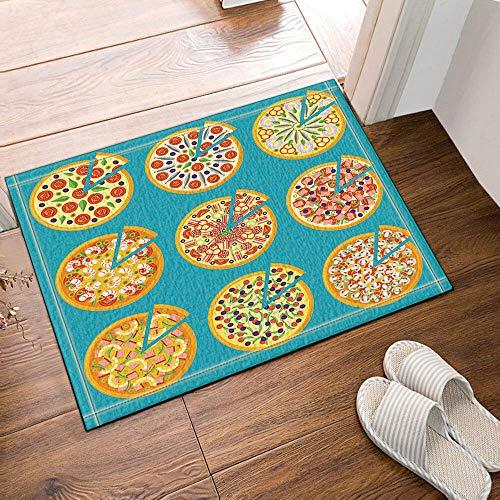 Köstliche Pizza Badezimmer Duschvorhang wasserdichtes Gewebe mit 12 Haken 71 * 71 Zoll
