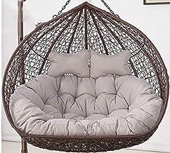 XHCP Outdoor Swing Chair Cushion 2 People Hanging Hammock Chair Cushion Garden Terrace Rattan Chair Cushion Orange