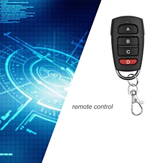 433MHz Universal Wireless Remote Control Metal Copy 4 Buttons Remote Control for Electric Gate Garage Door