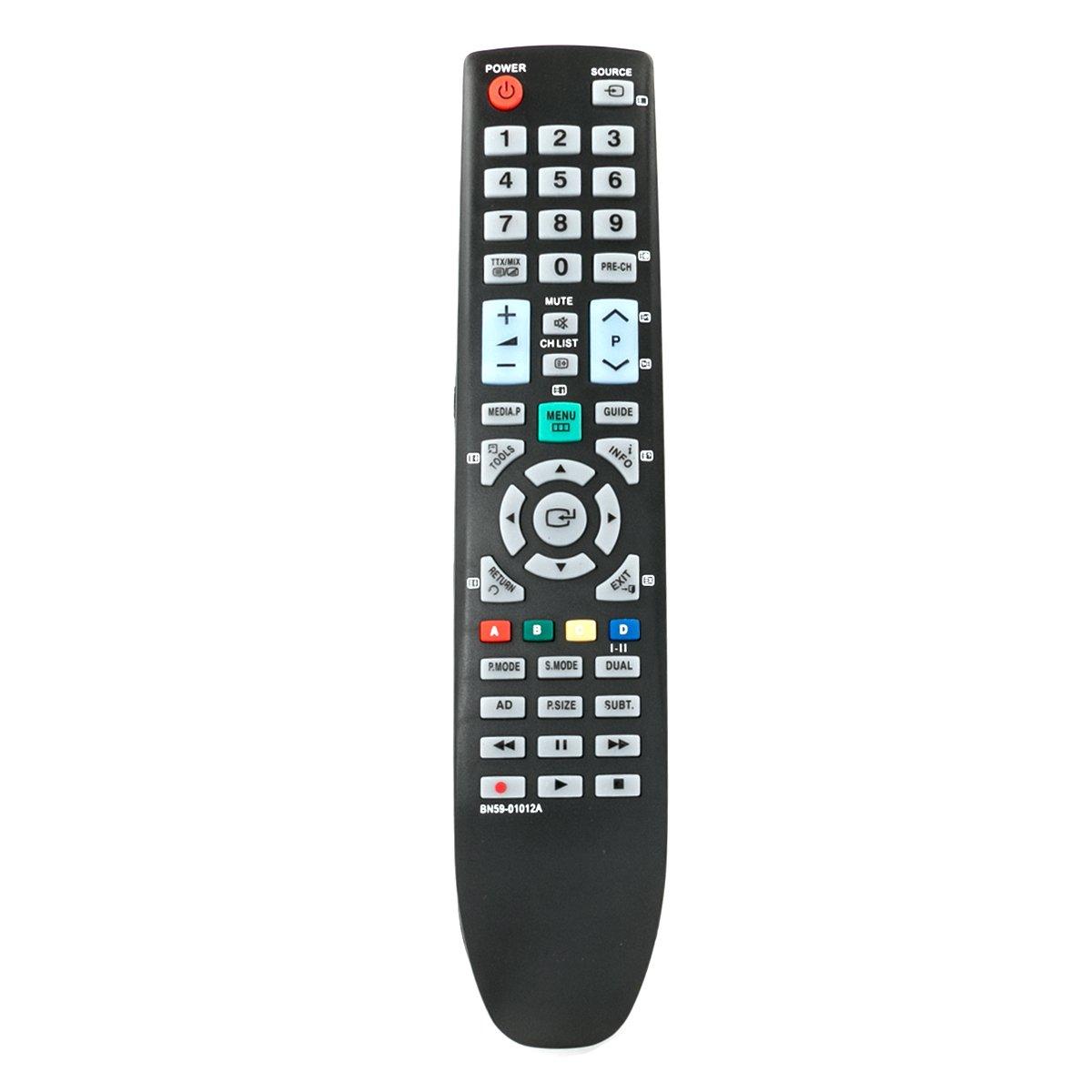 ALLIMITY BN59-01012A Control Remoto Reemplazar por Samsung LED LCD Plasma TV LE22C450 LE22C455 LE26C450 LE32C454 PS42C430 PS42C431 PS42C433 PS42C435 LE19C450 LE19C455: Amazon.es: Electrónica