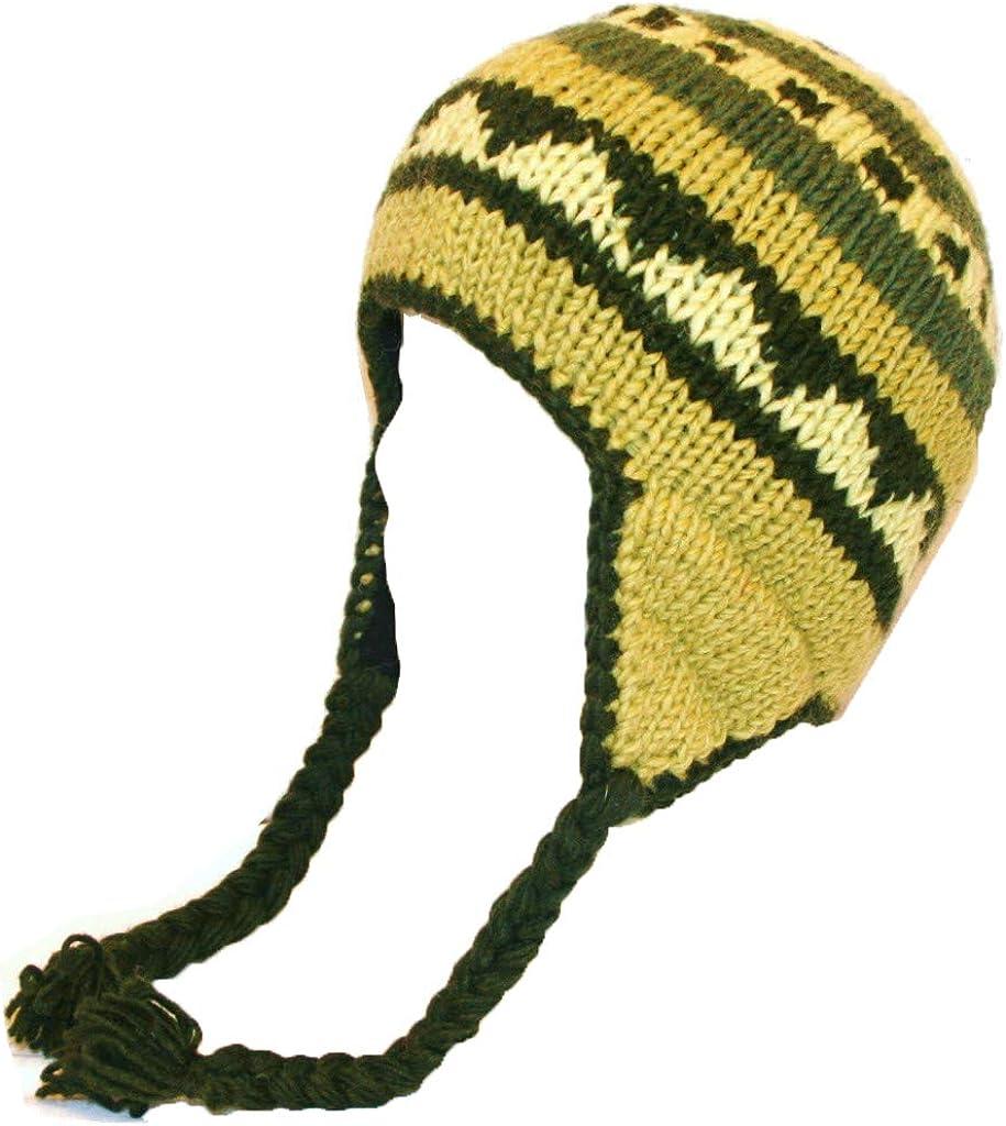 Agan Traders Beanie Hats Women Men Fleece Lined Knit Wool Thick Ski Trapper Winter Hats - S/M 146 H