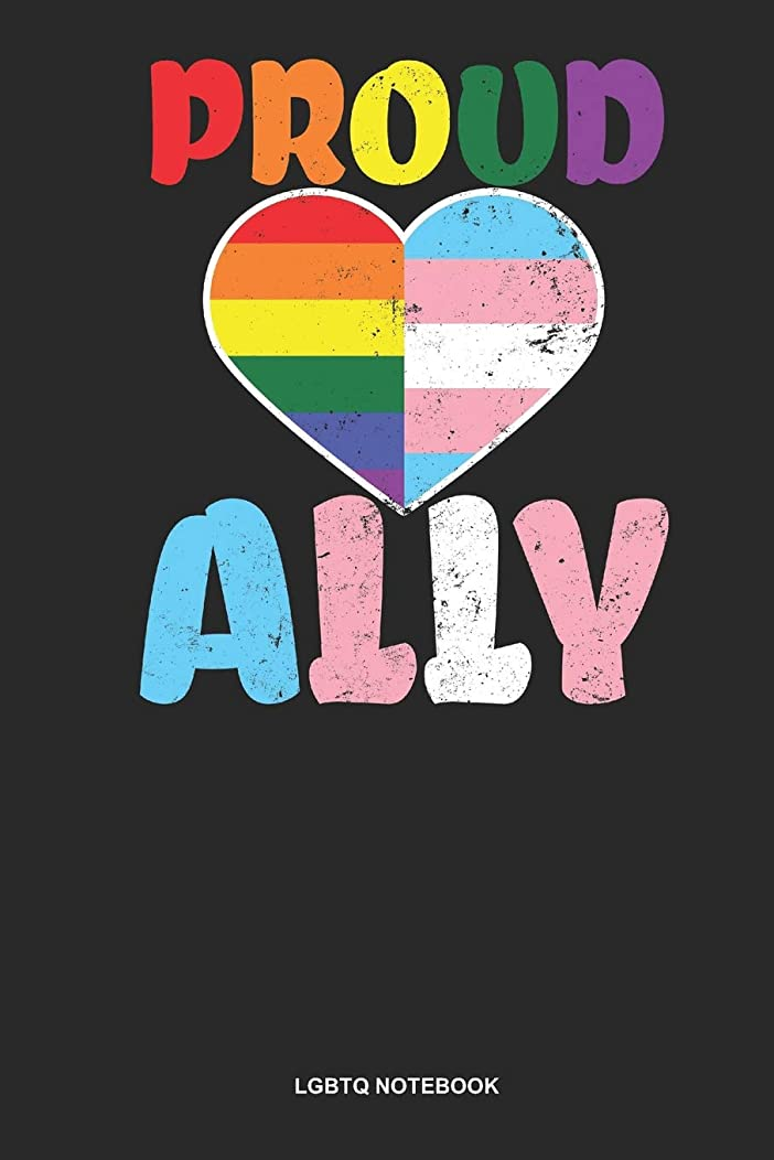 LGBTQ Notebook: Dotted Log Book For Trans And Lgbt Supporter: Transgender Heart Journal | Proud Ally Gift