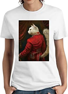 Women's The Hermitage Court Chamber Herald Funny Cat T-Shirts