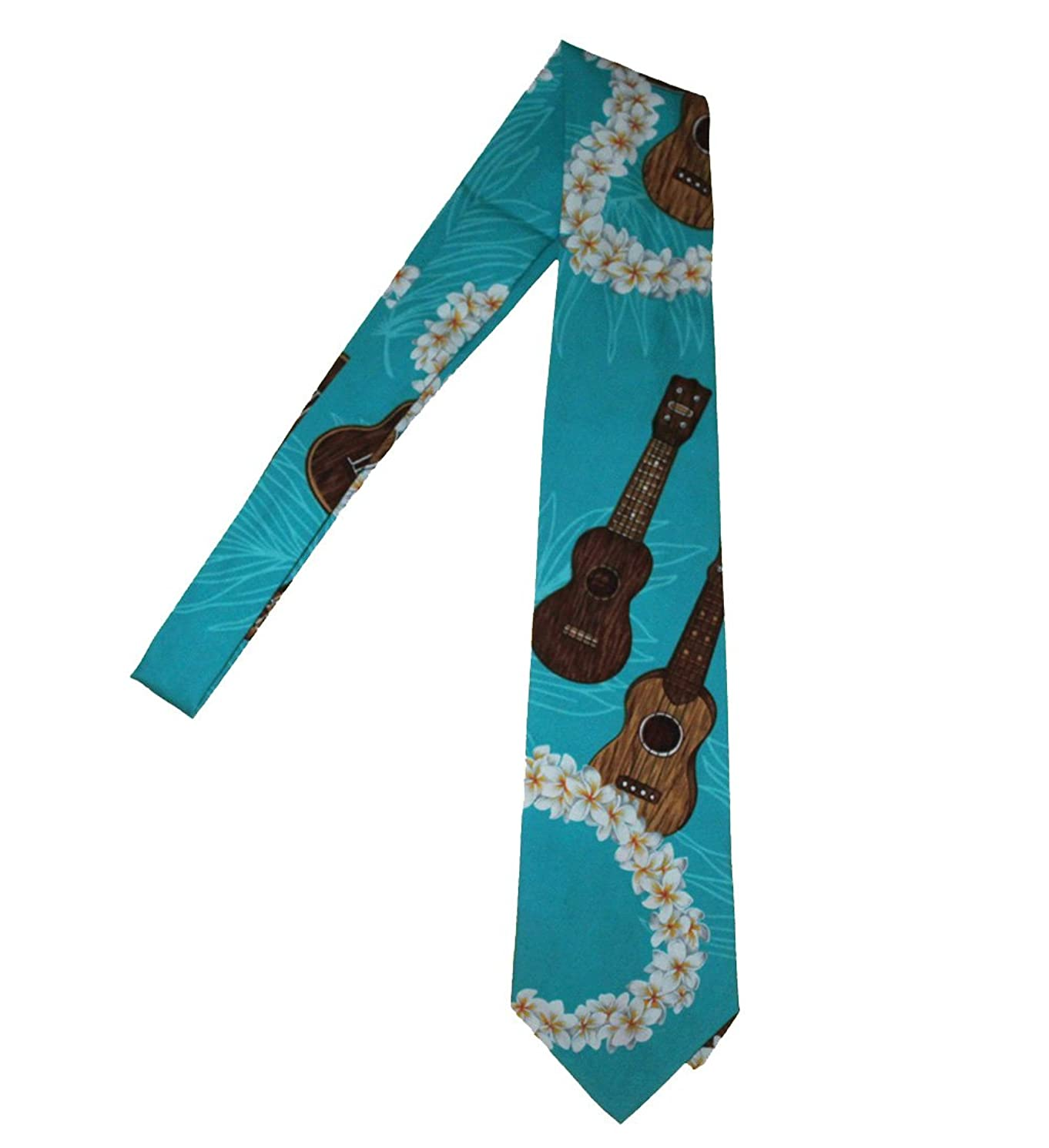 Hawaii Neckties - Ukulele /Board Blue