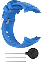 MOTONG Silicone Replacement Band for Suunto Spartan Ultra,Suunto Spartan Ultra HR,Suunto Spartan Ultra Stealth Titanium with HRM - AW16 (Silicone Blue)
