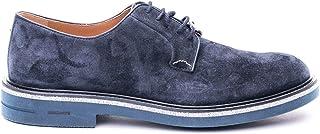 Brimarts Luxury Fashion Mens 312508SE06SB026POS1 Blue Lace-Up Shoes   Spring Summer 20