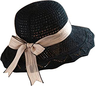 Women Floppy Summer Sun Beach Straw Hat Foldable Wide Brim