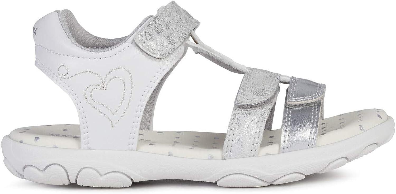 Geox Mixte Enfant Sandales JR Sandal Cuore Fille,Garcon Sandale /à lani/ères