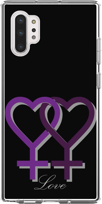 DistinctInk Overseas parallel import regular item Clear Shockproof Hybrid Case Note Bargain sale 10 for Galaxy Plus