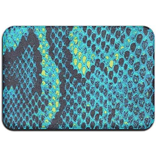 Turquoise Snake Print-Katoen Voile Rok Outdoor Rubber Mat Voordeur Matten Porch Garage Slip Entry Tapijt