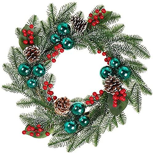 XinLuMing Guirnalda de Navidad Pinos Artificiales Conos de Holly Berry Guirnalda Guirnalda Fiesta de Navidad Suministros para Puertas Frontales Decoración de Chimenea (Color : Green)