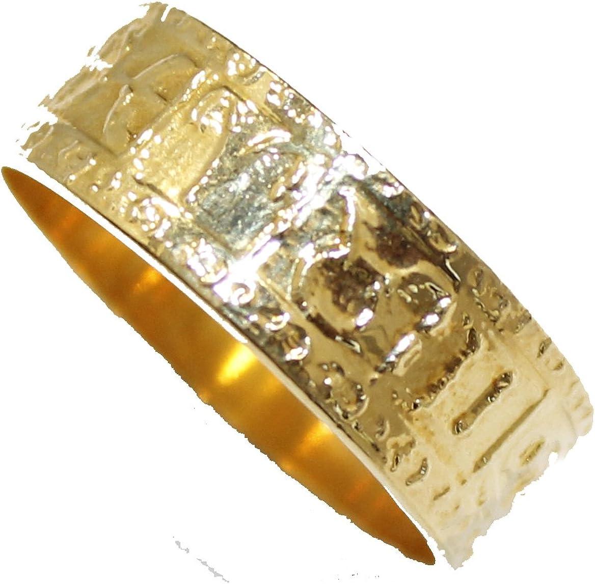 Zodiac Astrología horóscopo 12houses-12signos del zodiaco 18K chapado en oro anillo tamaño banda 7