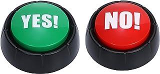 ほうねん堂 サウンドボタン yes no クイズ 早押し アンサー ブザー プッシュ ボタン 2個セット 乾電池式