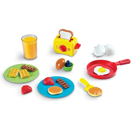 Learning Resources Desayuno de Juguete Pretend & Play Rise and Shine Breakfast