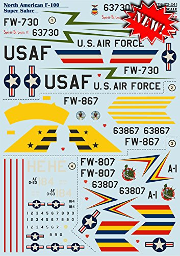 Superscale USA North American F-100C Super Sabre Decals 333rdFDS 4th FW MS481247