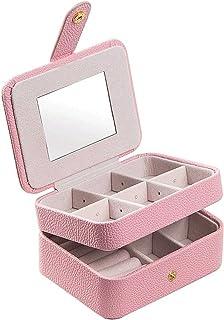 Adesign Boîte à Bijoux, boîtes à Bijoux Femmes, Cuir PU Lisse, pour Rangement et Affichage Collier Boucles d'oreilles Bouc...