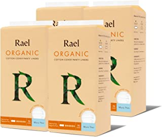 Rael Organic Cotton Panty Liners - Everyday Freshness, Daily Panty Liners, Chlorine Free, Unscented (Micro Thin,280 Count )