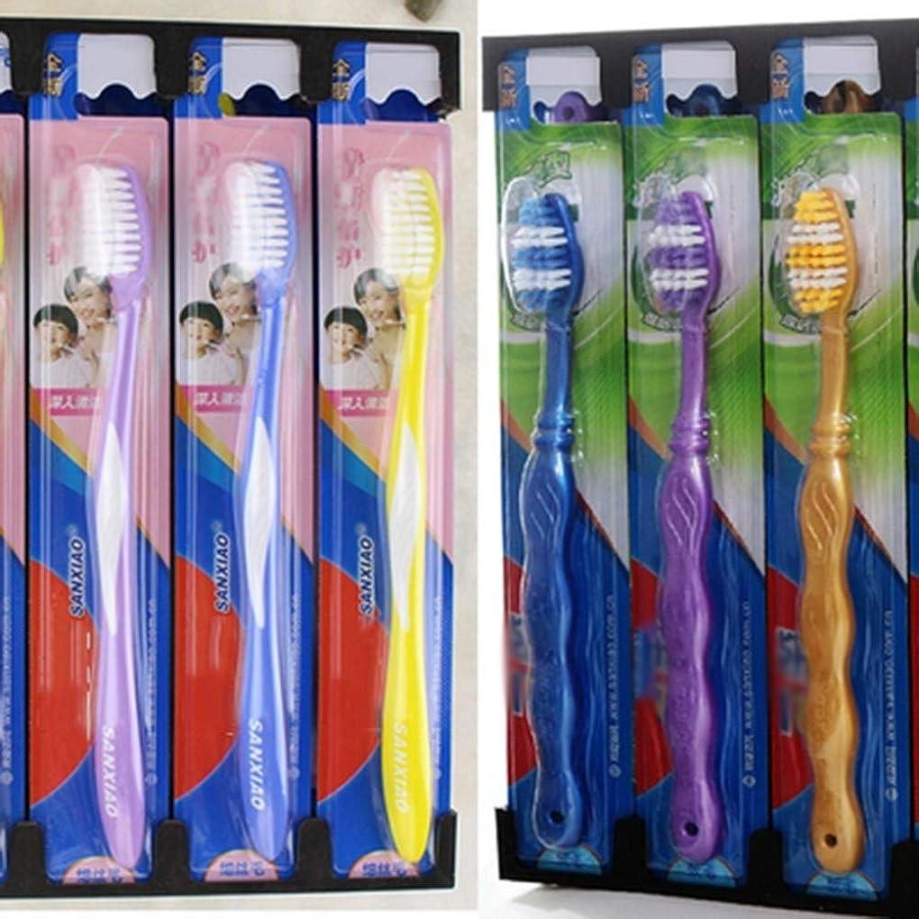 主導権打撃次歯ブラシ 30パック歯ブラシ、混血歯ブラシ、ファミリーパック歯ブラシ - 使用可能なスタイルの3種類 HL (色 : C, サイズ : 30 packs)