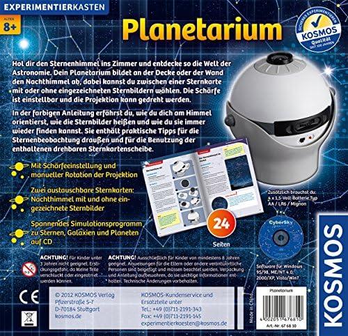 Kosmos 676810 Planetarium Projektor 2 Sternkarten Astronomie Kinder ab 8 Jahre