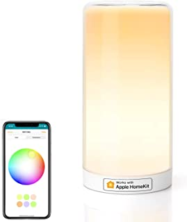 meross Smart Bedside Lamp Dimmable WiFi Table Lamp Night Light, Support HomeKit (iOS13+), Alexa, Google Assistant and Smar...