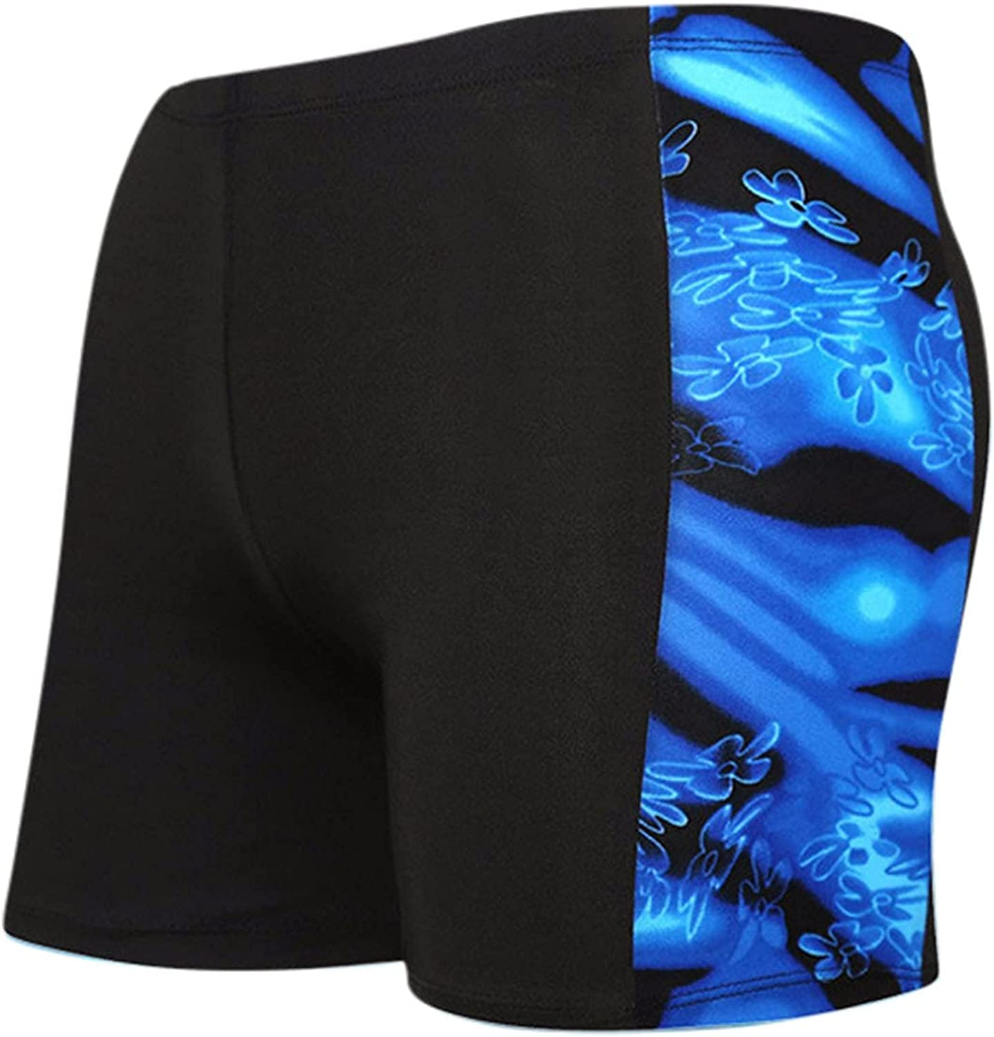 Huangse Mens Swimming Trunks Printed Quick Dry Board Shorts with Drawstring Swimwear Bathing Suits Athletic Shorts