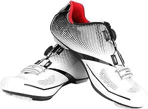 Dilwe Zapatilla de Ciclismo, 1 par de Zapatillas Antideslizantes de Carretera con Rayas Reflectantes para Ciclismo de Carretera de Montaña