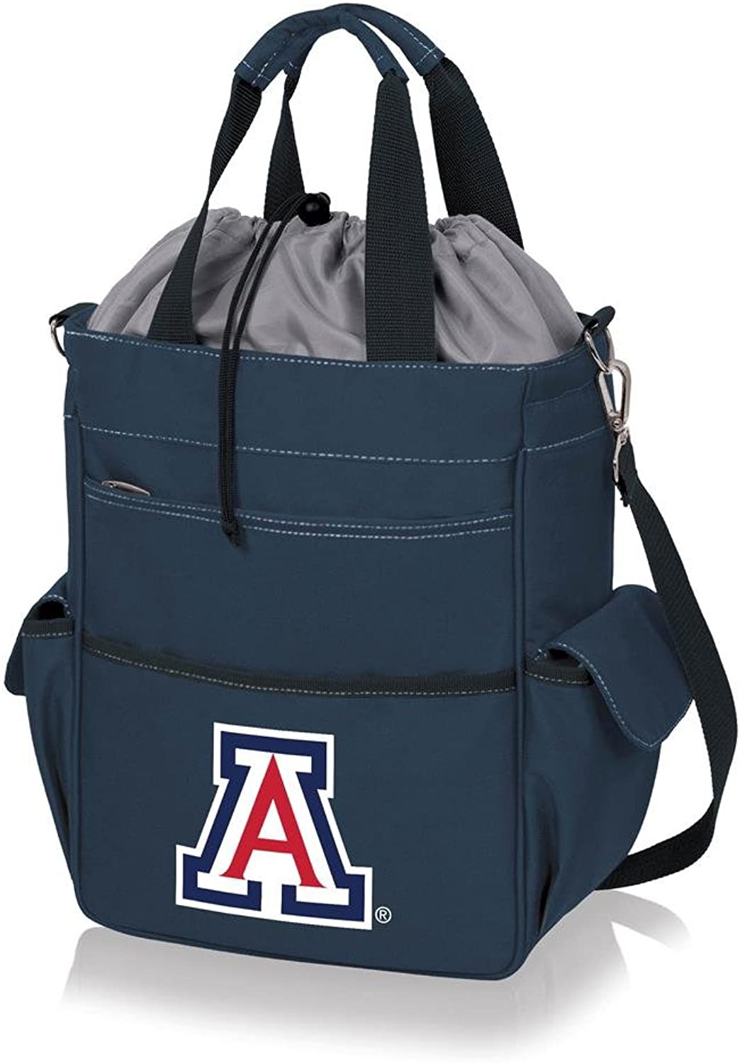 Picnic Time 614001380140 University of Arizona Wildcats Digital Print Activo Tote& 44; Navy