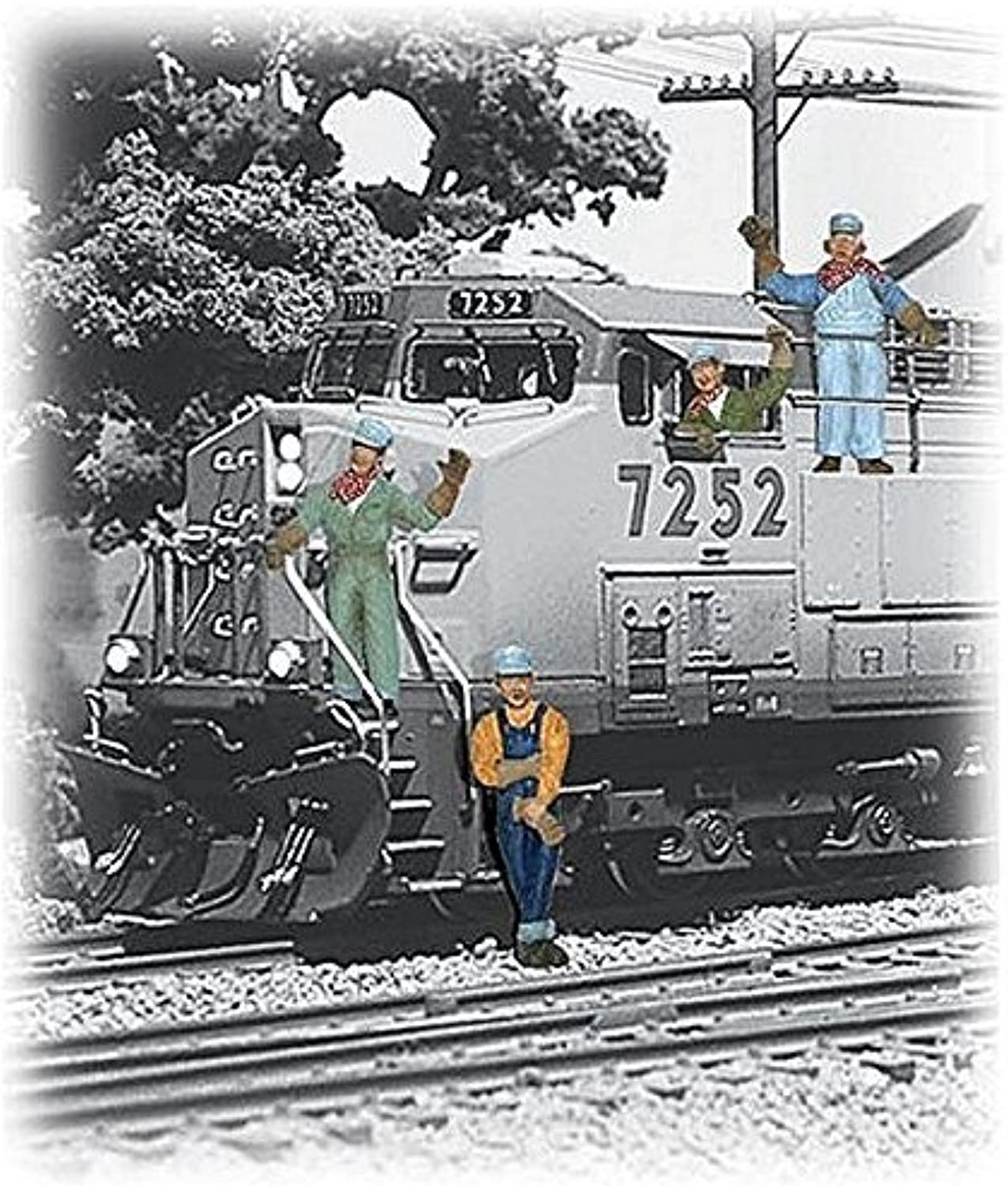 Woodland Scenics HO Scale Scenic Accents Figures People Set Engineers (6) by Woodland Scenics