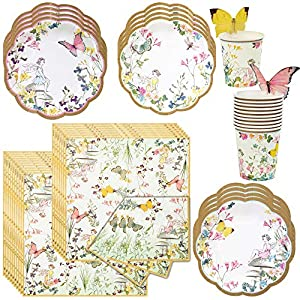 talking tables truly fairy party bundle designer plates napkins and cups birthday bridal baby shower tea luncheon garden
