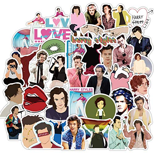50Pcs Hot British Singer Harry Edward Styles Stickers for Car Laptop PVC Backpack Water Bottle Pad Bicycle Waterproof Decal