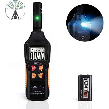 Medidor EMF, TACKLIFE Detector de Radiación, 5HZ - 3500MHz con LCD ...