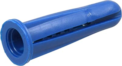 The Hillman Group 370342 Blue Conical Plastic Anchor, 10-12 X 1-Inch, 100-Pack