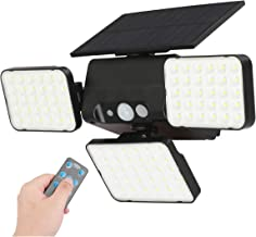 DiDi DENG Solar Lights Outdoor Remote Tri-Head 360°Adjust Motion Sensor Spotlights IP65 Security 90 LED Dim Model for Fron...