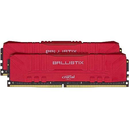 Crucial Ballistix BL2K8G30C15U4R 3000 MHz, DDR4, DRAM, Memoria Gamer para Ordenadores de sobremesa, 16GB (8GB x2), CL15, Rojo