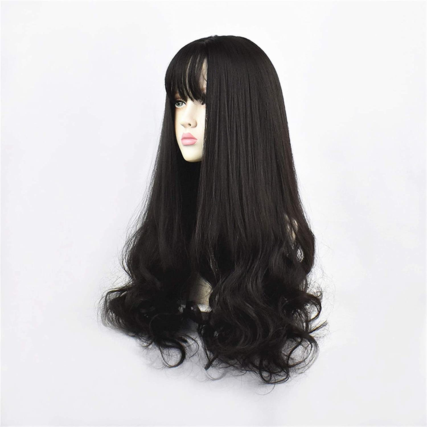 zxb-shop Synthetic Wig 24inch Under blast sales Green Black B Curly Be super welcome Hair