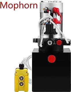 Mophorn 12V Hydraulic Pump Unit 4 Quart (Steel,Double Acting)