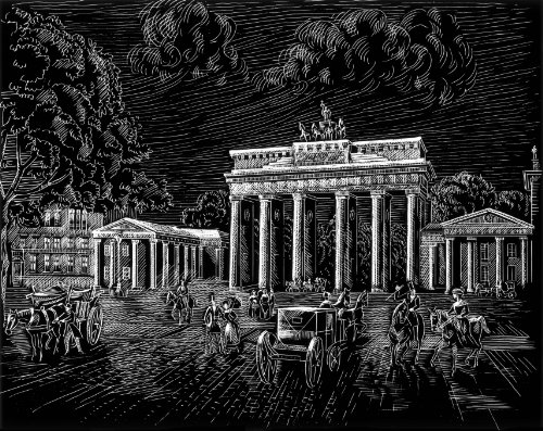 WASO-Hobby - 4er Scrapy Kratzbilder Set - Berlin Motive / Silber *Groß*