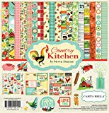 Carta Bella Paper CBCK76016 Company Country Kitchen Collection Kit Orange, Teal, Green, 12-x-12-Inch
