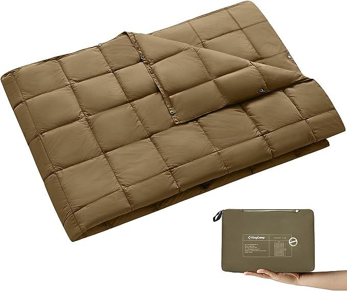 KingCamp Multipurpose Travel Down Alternative Blanket - Best DWR System