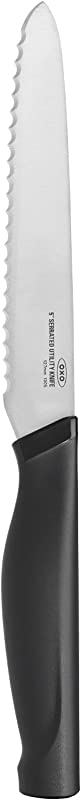 OXO 22181 Good Grips 5 Inch Utility Knife Silver Black