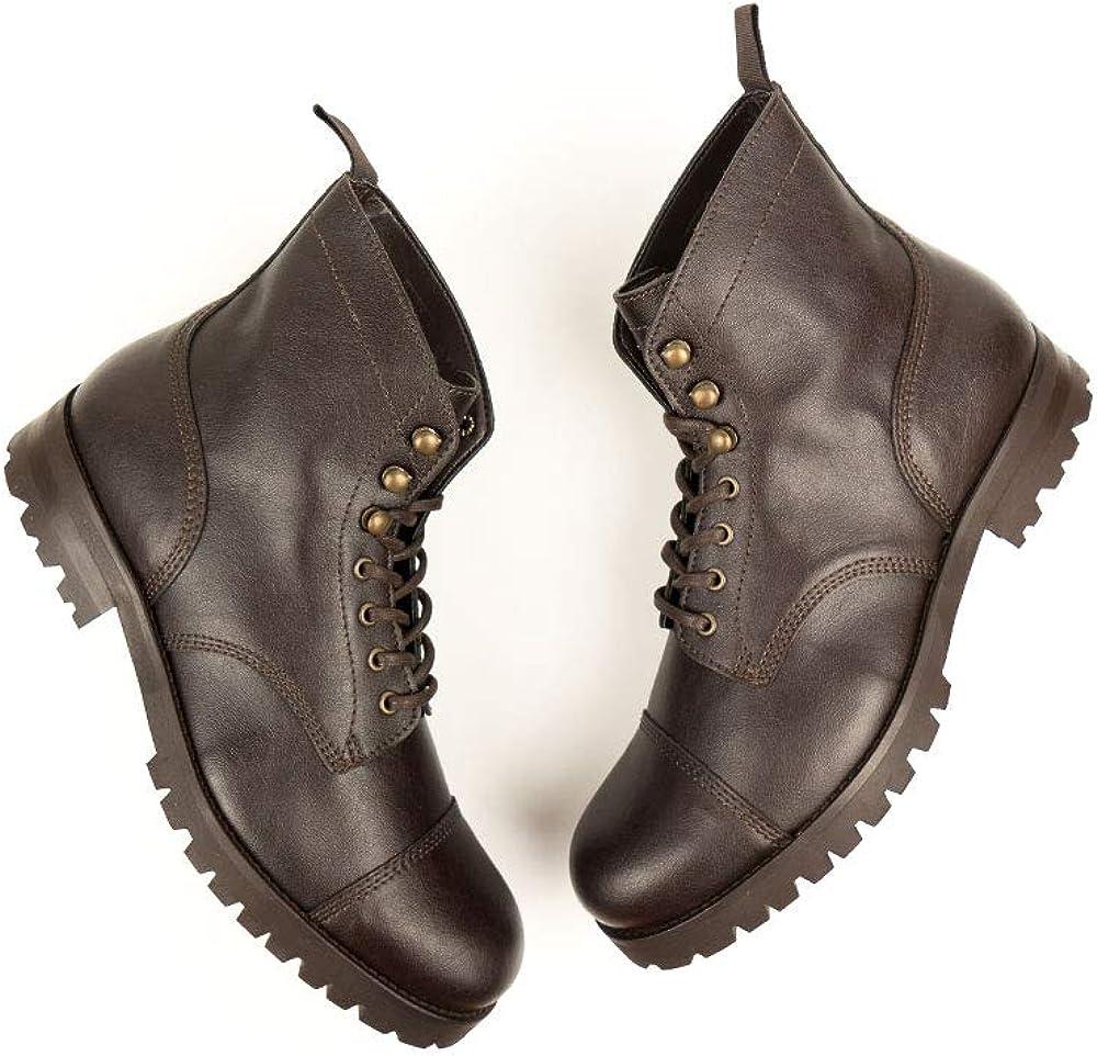 Will's Vegan Award-winning store Shoes Mens Work Boots Brown Cheap Dark