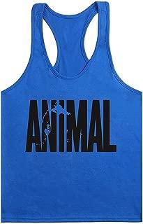 waylongplus Mens Animal Letter Print Fitness Gym Stringer